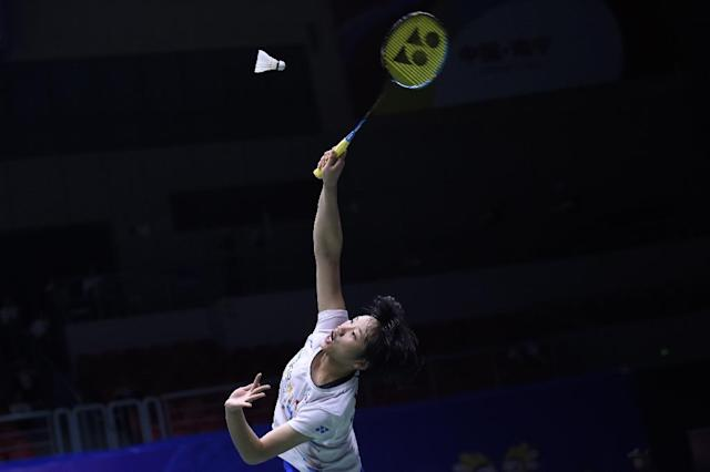 An Se Young roared back to defeat Tai Tzu-ying in 66 thrilling minutes (AFP Photo/WANG ZHAO)