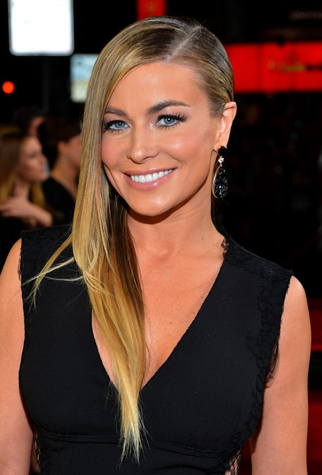 "HOLLYWOOD, CA - JANUARY 23:  Actress Carmen Electra attends Relativity Media's ""Movie 43"" Los Angeles Premiere held at the TCL Chinese Theatre on January 23, 2013 in Hollywood, California.  (Photo by Alberto E. Rodriguez/Getty Images For Relativity Media)"