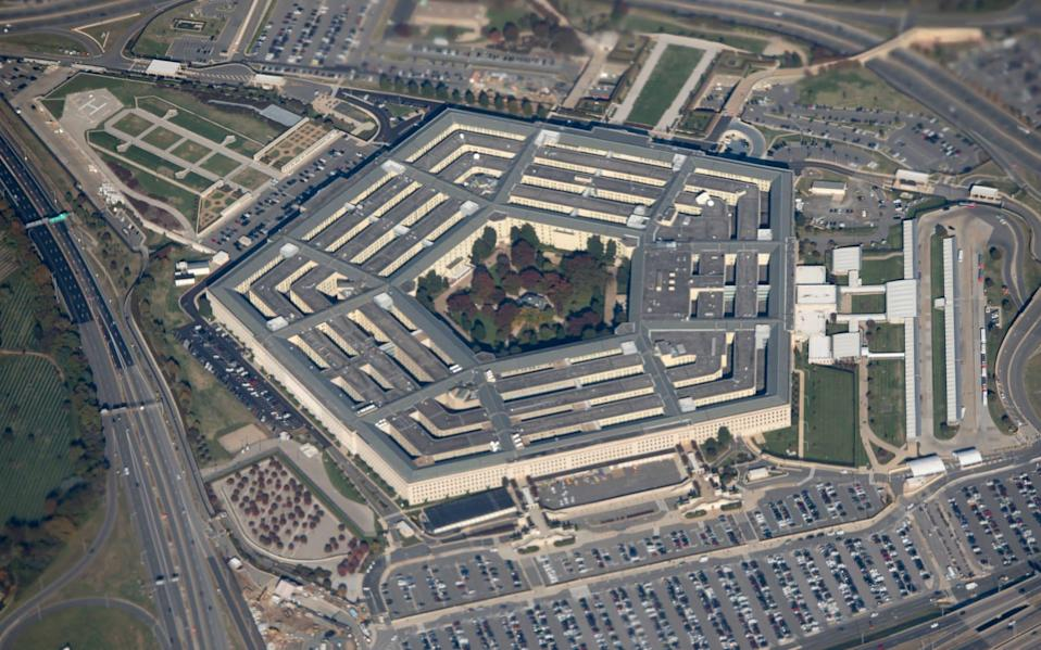 The Pentagon is seen from an airplane over Washington, DC - AFP