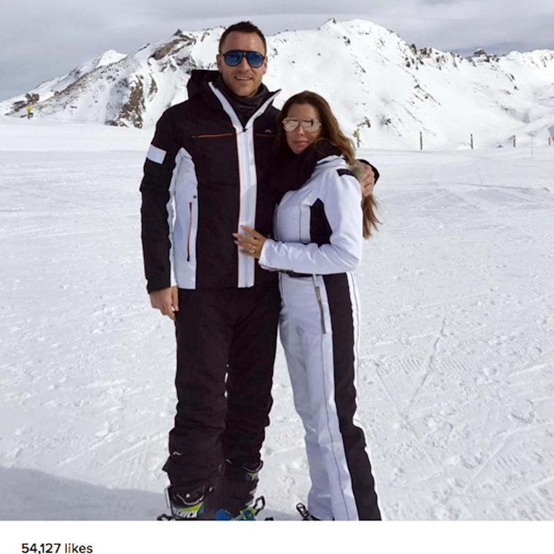 John Terry on holiday skiing