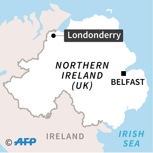 Map of N Ireland locating Derry/Londonderry (AFP Photo/)