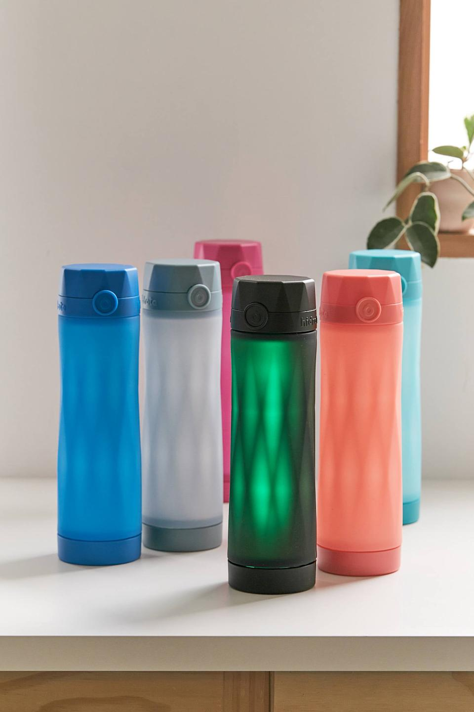 """<h2>Hidrate Spark 3 Smart Water Bottle</h2><br><strong>Best For: Dehydration </strong><br>I know, I know — it's not very Adult to forgo water in exchange for coffee or a diet coke, but it happens to the best of us; during long work hours or time spent with friends, it can be easy to neglect your daily hydration. <br><br>The Spark 3 takes forgetfulness out of the equation with its Bluetooth-enabled app tracker that will graciously remind you to <em>drink up</em>! The app helps you track your intake, while the mystical glowing effect keeps it in the forefront of your mind if you haven't taken a sip in a while. <br><br><strong>Urban Outfitters</strong> Hidrate Spark 3 Smart Water Bottle, $, available at <a href=""""https://go.skimresources.com/?id=30283X879131&url=https%3A%2F%2Fwww.urbanoutfitters.com%2Fshop%2Fhidrate-spark-3-smart-water-bottle%3F"""" rel=""""nofollow noopener"""" target=""""_blank"""" data-ylk=""""slk:Urban Outfitters"""" class=""""link rapid-noclick-resp"""">Urban Outfitters</a>"""