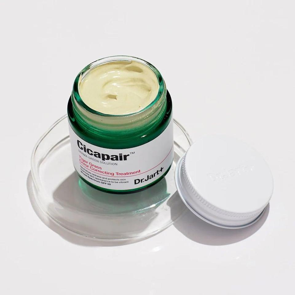 """<p>""""This <span>Dr. Jart+ Cicapair Tiger Grass Color Correcting Treatment SPF 30</span> ($52) came out back when I was a wee little beauty editor (getting a few small formulation upgrades along the way) and even all these years later, remains one of the most impressive products I've tried to date. When it got its second wind on TikTok last year, with everyone <a href=""""https://www.popsugar.com/beauty/Dr-Jart-Cicapair-Tiger-Grass-Color-Correcting-Treatment-44343685"""" class=""""link rapid-noclick-resp"""" rel=""""nofollow noopener"""" target=""""_blank"""" data-ylk=""""slk:touting its game-changing abilities"""">touting its game-changing abilities</a>, it reminded me of just how excited I was when I first used it, too. All of this is to say: everything people are saying is true - and your skin-care game will never be the same because of it."""" - Kelsey Castañon, beauty director</p>"""