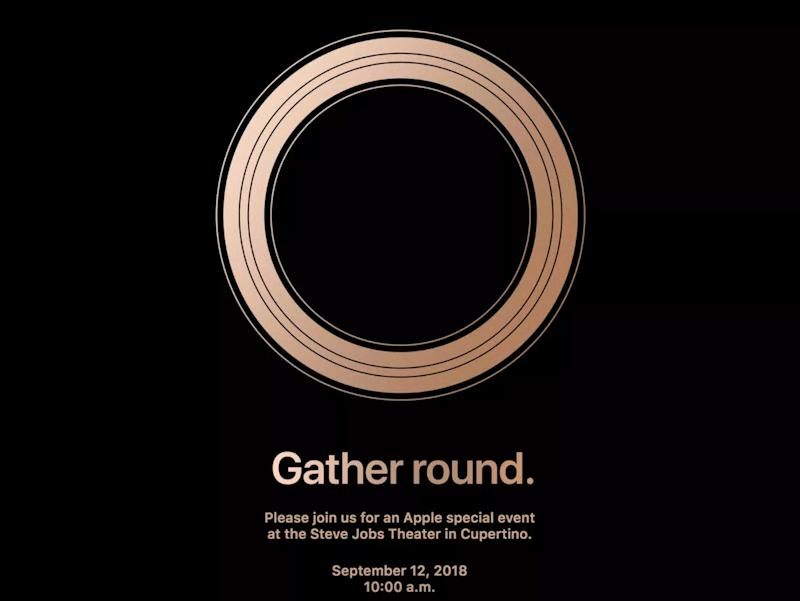 Apples buzzy gather round invitation has a big gold hint view photos stopboris Image collections
