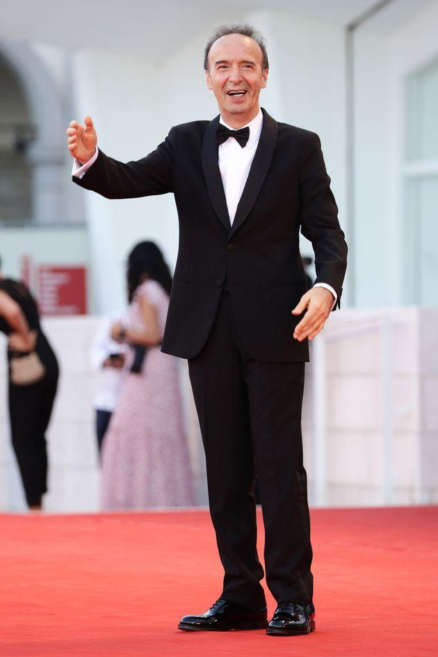 VENICE, ITALY - SEPTEMBER 01: Roberto Benigni attends the red carpet of the movie