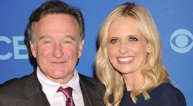 Actor Robin Williams and Actress Sarah Michelle Geller attend the CBS 2013 Upfront Presentation at The Tent at Lincoln Center on May 15, 2013. Photo: Getty Images