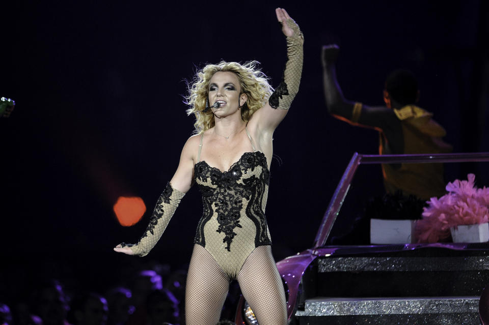 MIAMI, FL- JUNE 23: (File) Britney Spears concert at the American Airlines Arena on July 22, 2011 in Miami, Florida. (Photo by Ron Elkman/USA TODAY NETWORK/Sipa USA)