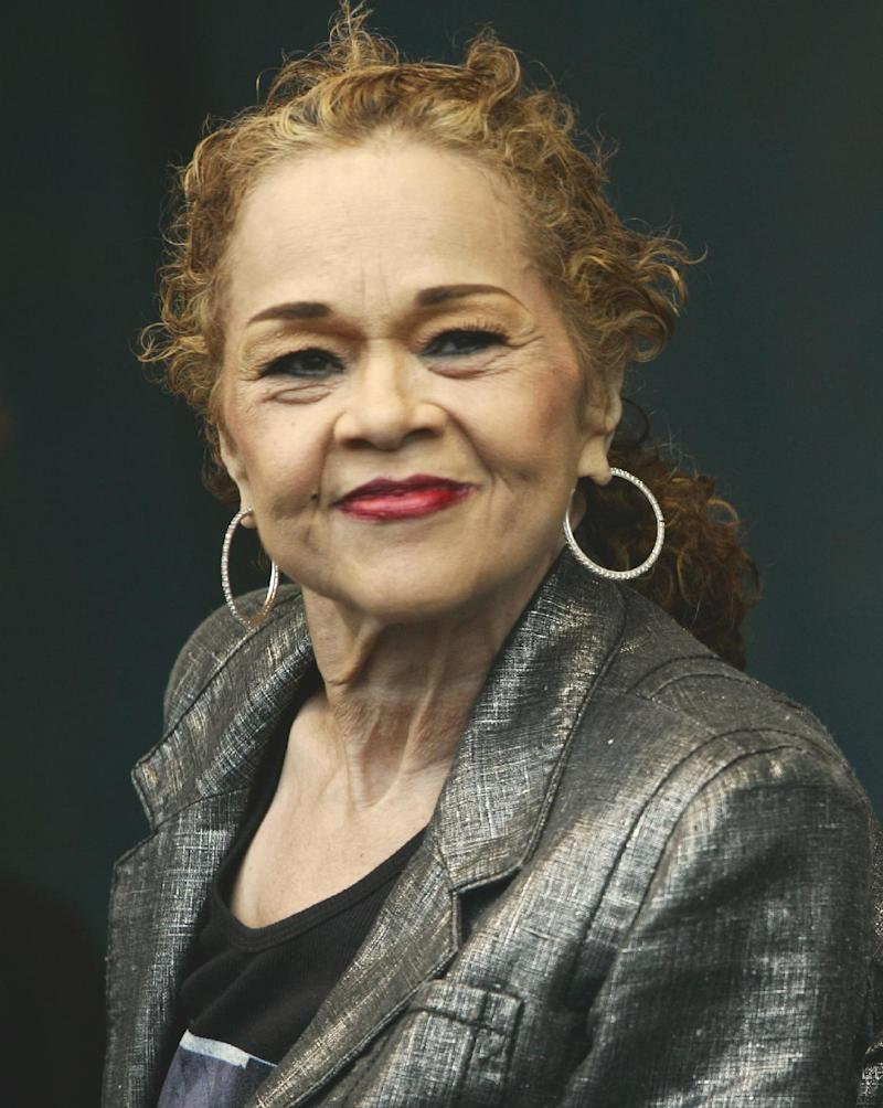FILE - This April 29, 2006 file photo shows the late vocalist Etta James during her performance at the 2006 New Orleans Jazz and Heritage Festival in New Orleans. James, who died on Jan. 20 at 73 will be inducted into the Apollo Theater's hall of fame on June 4, 2012, along with singer-songwriter Lionel Richie. (AP Photo/Jeff Christensen, File)