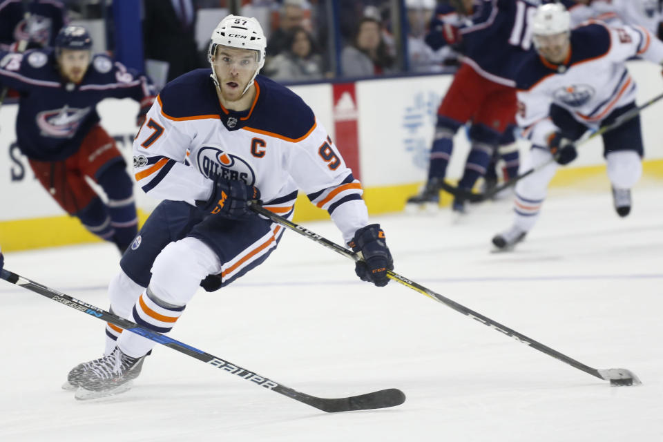 McDavid and the Oilers dug themselves quite a hole, but the postseason isn't totally out of reach. (AP Photo/Jay LaPrete)