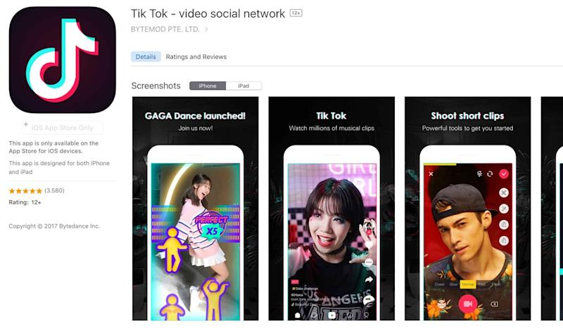 Tik Tok, currently the world's most downloaded iPhone app, under fire over lack of privacy settings