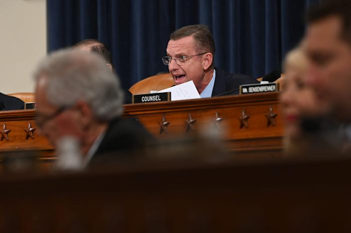 Senior Republican on the Judiciary Committee, Doug Collins R-Ga makes his opening statement as the House Judiciary Committee meets to markup Articles of Impeachment against President Donald Trump.