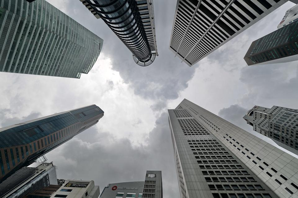 Skyscrapers in Raffles Place, the financial district of Singapore. (AFP via Getty Images file photo)