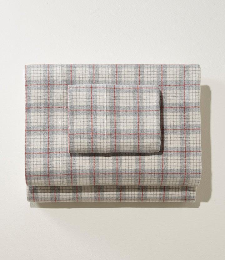 <p>You'll want to take meetings from bed with this <span>L.L. Bean Heritage Chamois Flannel Sheet Set, Plaid</span> ($139).</p>