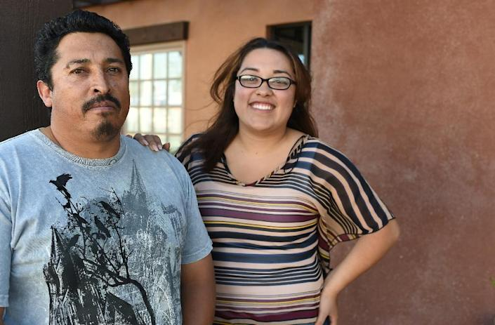 Esteban Yanez (left) is among the estimated 11 million undocumented immigrants living in the United States (AFP Photo/Robyn Beck)