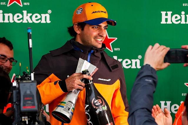 Sainz's maiden F1 podium secure after DRS review