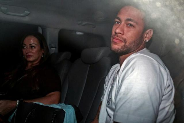 Neymar has been recovering from foot surgery back in his native Brazil