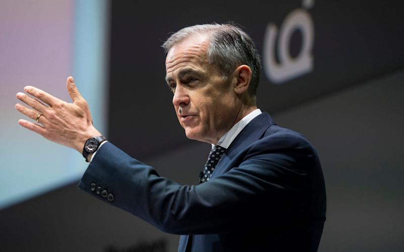 Mark Carney earlier this week said Brexit had hit economic growth by 2pc - PA