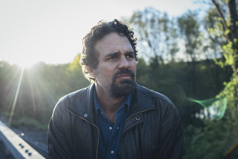 "Mark Ruffalo on the set of ""I Know This Much Is True."""