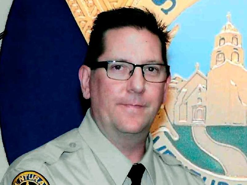 Sergeant Ron Helus, who was killed 7 November, 2018, in a deadly shooting at a country music bar in Thousand Oaks, California. Authorities say Helus was shot five times by a gunman who killed 11 others, but struck fatally by a bullet fired by a highway patrolman: AP/Ventura County Sheriff's Department