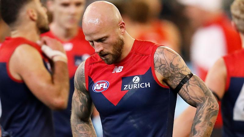 A torrid 2019 season has hit the Melbourne Demons in the hip pocket, with reduced crowds estimated to have cost the club up to $1.5 million. (Photo by Michael Willson/AFL Photos via Getty Images)