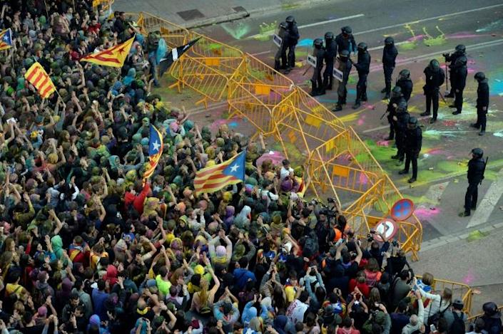 Feelings ran high in Catalonia following a thwarted 2017 independence referendum