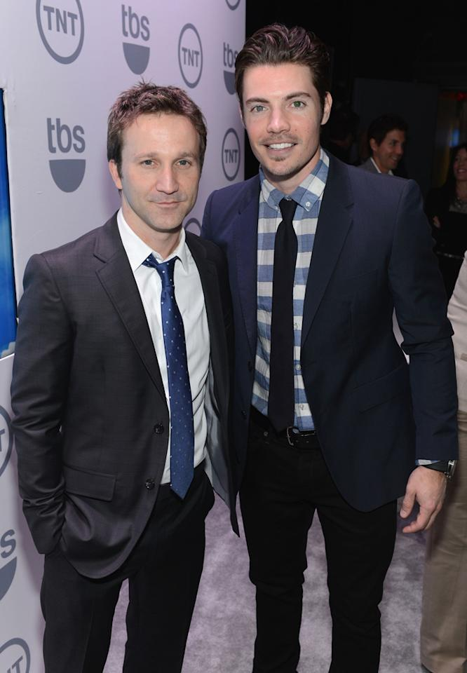 "Breckin Meyer (""Franklin and Bash"") and Josh Henderson (""Dallas"") attend the TNT/TBS 2012 Upfront Presentation at Hammerstein Ballroom on May 16, 2012 in New York City."