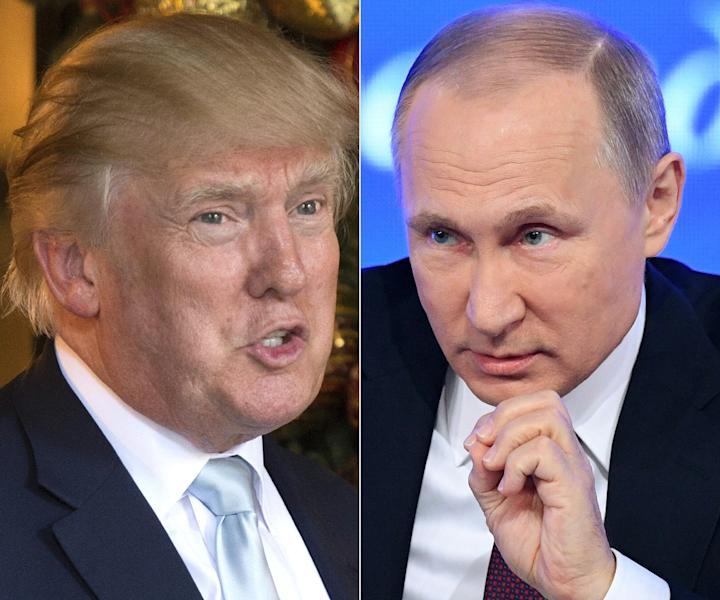 US President Donald Trump (left) and Russian President Vladimir Putin (AFP Photo/DON EMMERT, Natalia KOLESNIKOVA)