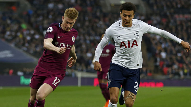 De Bruyne lauds Man City's response to rare wobble after slaying Spurs