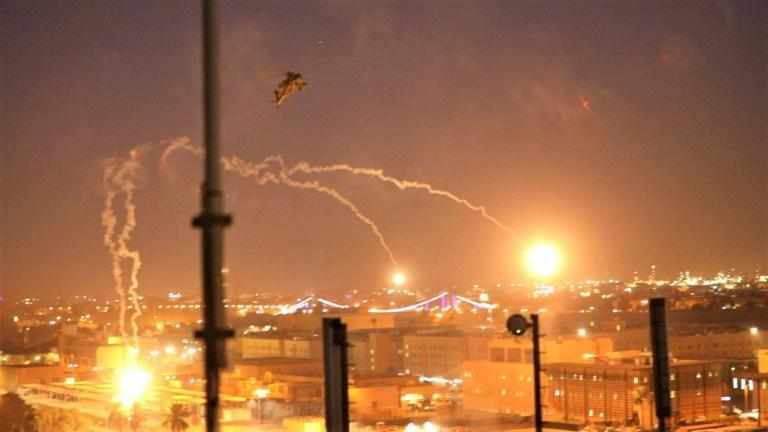 US helicopters flown around Baghdad's Green Zone at night after pro-Iran factions breached the out wall of the US embassy at the end of December