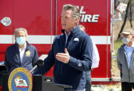 California is racing to spend more than a half-billion dollars before this year's wildfire season gets going in earnest. Newsom on Tuesday approved the early funding. California is racing to spend more than a half-billion dollars before this year's wildfire season gets going in earnest. Newsom on Tuesday, April 13, 2021, approved the early funding. (AP Photo/Adam Beam)