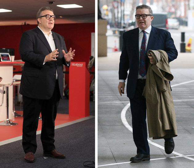 Before and after: Tom Watson says he has lost 39kg.