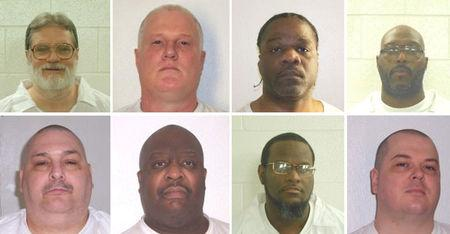 FILE PHOTO - Handout photos of inmates scheduled to be executed by lethal injection beginning April 17 in Arkansas