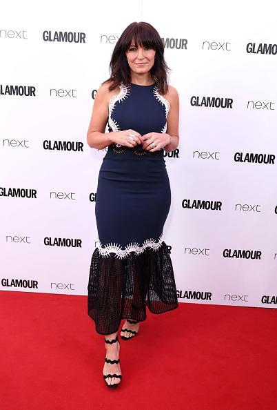<p>Davina looked divine in a lace detailed dress and some killer heels. <i>[Photo: Mike Marsland/Mike Marsland/WireImage]</i></p>