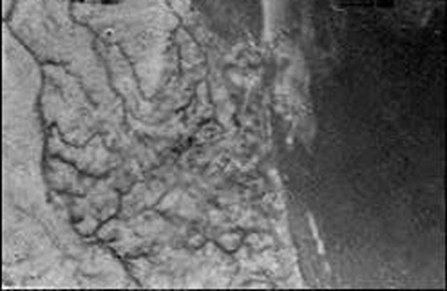 IN SPACE - JANURARY 14: In this handout from the European Space Agncy (ESA), a composite photo of Saturn's moon Titan during the descent of European Space Agency's (ESA) Huygens is seen January 14, 2005. The image was sent to Earth through the Cassini probe orbiting Titan. (Photo by ESA/NASA /University of Arizona via Getty Images)