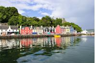 """<p>The picture-perfect Isle of Mull — famous for its colourful houses — is the best place to come if you're looking to spot whales, <a href=""""https://www.countryliving.com/uk/wildlife/countryside/a35581271/dolphin-personality-traits/"""" rel=""""nofollow noopener"""" target=""""_blank"""" data-ylk=""""slk:dolphins"""" class=""""link rapid-noclick-resp"""">dolphins</a> and sea eagles. From hidden beaches to its quaint villages, it really does tick all the right boxes. </p><p><strong>READ MORE</strong>: <a href=""""https://www.countryliving.com/uk/travel-ideas/staycation-uk/a34036987/log-cabins-uk/"""" rel=""""nofollow noopener"""" target=""""_blank"""" data-ylk=""""slk:The best log cabins in the UK for a secluded escape after April 12th"""" class=""""link rapid-noclick-resp"""">The best log cabins in the UK for a secluded escape after April 12th</a></p>"""