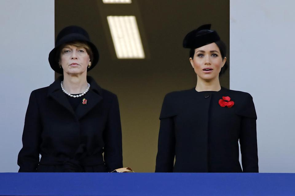 Germany's First Lady Elke Büdenbender and Meghan, Duchess of Sussex (Getty)