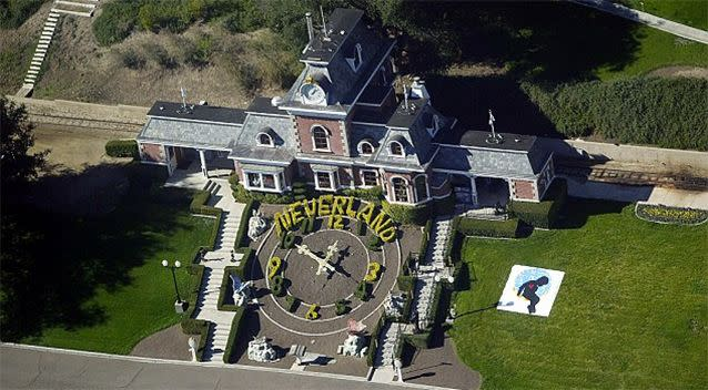 Neverland Ranch was the focus of the 2003 police raid. Photo: Getty