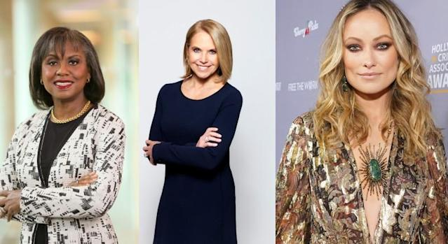 Anita Hill, Katie Couric and Olivia Wilde.
