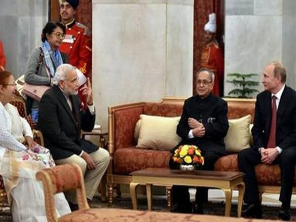 Russian President Vladimir Putin condoled the demise of Pranab Mukherjee (Picture tweeted by Russian Embassy)