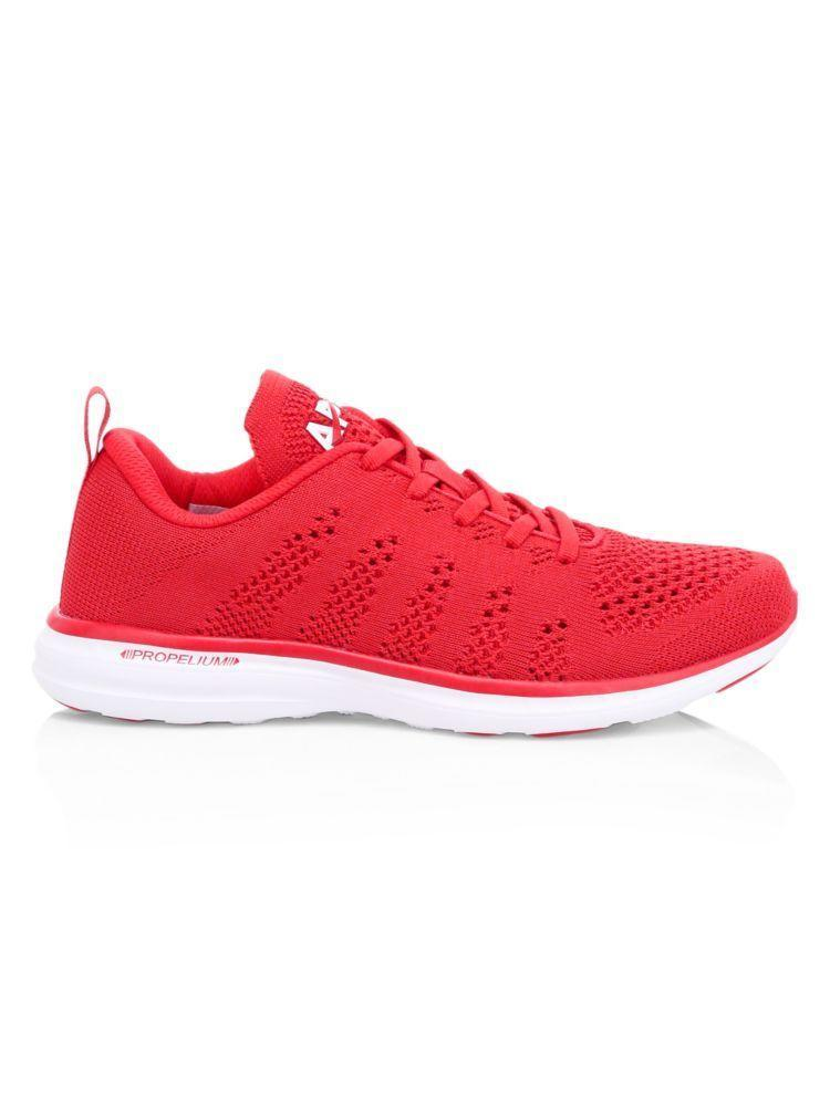 """<p><strong>Athletic Propulsion Labs</strong></p><p>saksfifthavenue.com</p><p><strong>$165.00</strong></p><p><a href=""""https://go.redirectingat.com?id=74968X1596630&url=https%3A%2F%2Fwww.saksfifthavenue.com%2Fapl-techloom-pro-sneakers%2Fproduct%2F0400011385043&sref=https%3A%2F%2Fwww.harpersbazaar.com%2Ffashion%2Ftrends%2Fg33234271%2Fcute-running-shoes-for-women%2F"""" rel=""""nofollow noopener"""" target=""""_blank"""" data-ylk=""""slk:Shop Now"""" class=""""link rapid-noclick-resp"""">Shop Now</a></p><p>Your outfit will definitely be red hot with these bright kicks. </p>"""