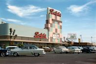 """<p>One of the reasons supermarkets expanded in the '50s is because households began purchasing cars. Grocery stores enticed their customers to shop with them by offering <a href=""""https://time.com/4480303/supermarkets-history/"""" rel=""""nofollow noopener"""" target=""""_blank"""" data-ylk=""""slk:free parking"""" class=""""link rapid-noclick-resp"""">free parking</a>.</p>"""