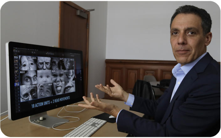 Hany Farid, a digital forensics expert at the University of California at Berkeley, views videos in his office. Experts are still undecided on how to label manipulated videos like deepfakes being viewed millions of times.