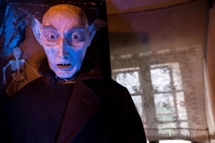 The vampire Nosferatu made from wax is also on display at the museum in Zavada, open by appointment (AFP Photo/VLADIMIR SIMICEK)