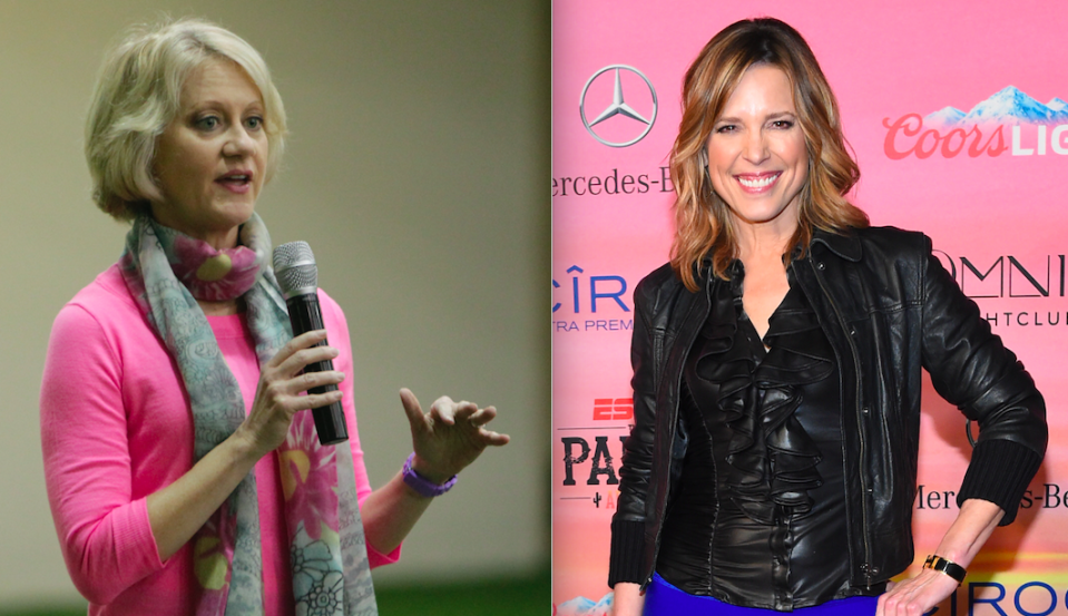 """Hannah Storm and Andrea Kremer called """"Thursday Night Football,"""" but people struggled to find the broadcast. (AP Photos)"""