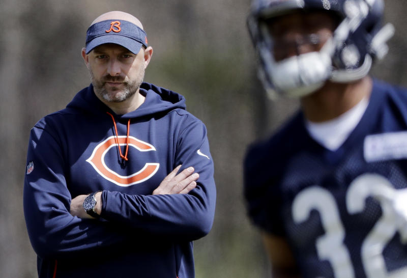 Twitter reacts to Matt Nagy doing his best George Halas