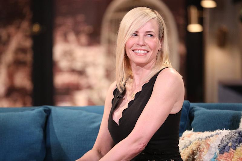 BUSY TONIGHT -- Episode 1102 -- Pictured: Guest Chelsea Handler on the set of Busy Tonight -- (Photo by: Jordin Althaus/E! Entertainment/NBCU Photo Bank via Getty Images)
