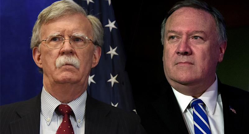 National security adviser John Bolton (Photo: Stephanie Keith/Getty Images); Secretary of State Mike Pompeo (Photo: Alex Brandon/AP)