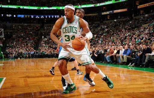 BOSTON, MA - FEBRUARY 1: Paul Pierce #34 of the Boston Celtics drives to the basket against the Orlando Magic on February 1, 2013 at the TD Garden in Boston, Massachusetts. (Photo by Brian Babineau/NBAE via Getty Images)