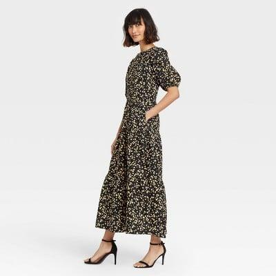 <p>This <span>Who What Wear Puff Short Sleeve Dress</span> ($38) is a lovely option for a brunch or dinner date.</p>