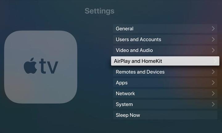 Apple TV Enable AirPlay
